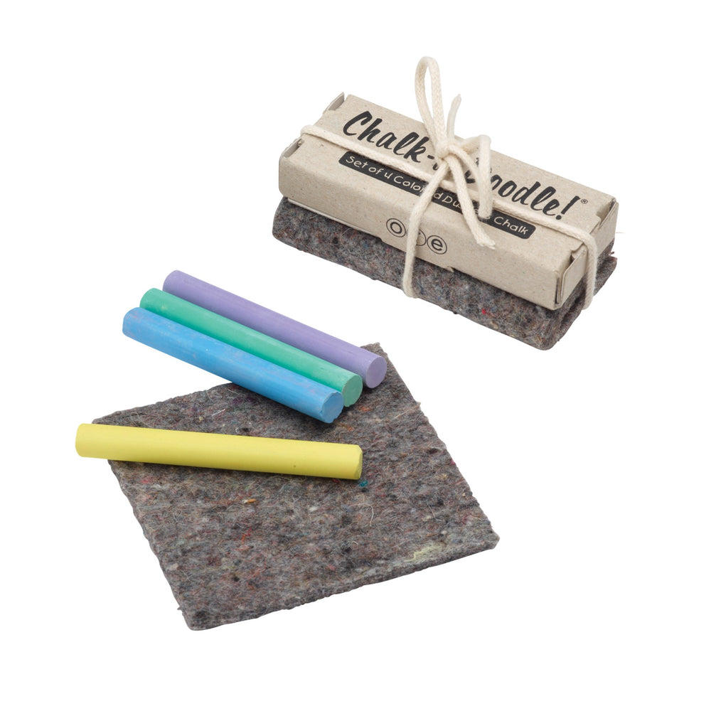 Chalk Box S/4 With Recycled Felt Eraser