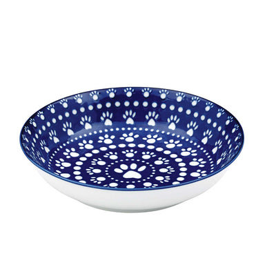 Pet Bowl | Bandana Blue Shallow