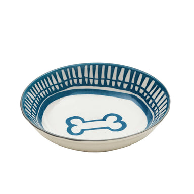 Pet Bowl | Avalon Bone Blue