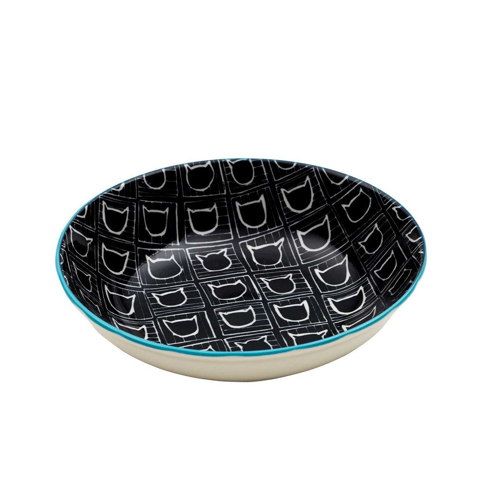 Pet Bowl | Avalon Cat Pattern Black