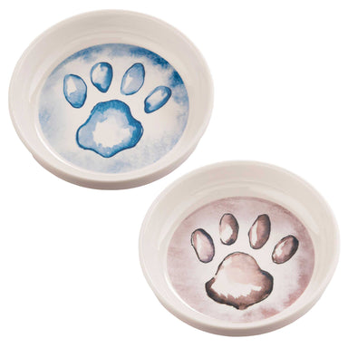 Pet Bowl | Gift Set Watercolor Paws