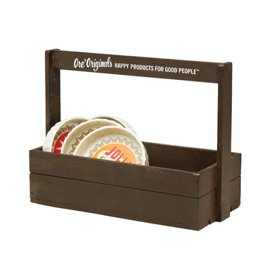 Display Rustic Wooden Caddy