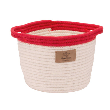 Dog Toy Bucket | Cream & Red
