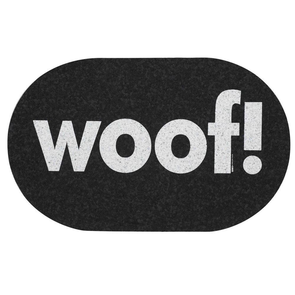 Pet Placemat | Recycled Rubber Jumbo Oval Woof