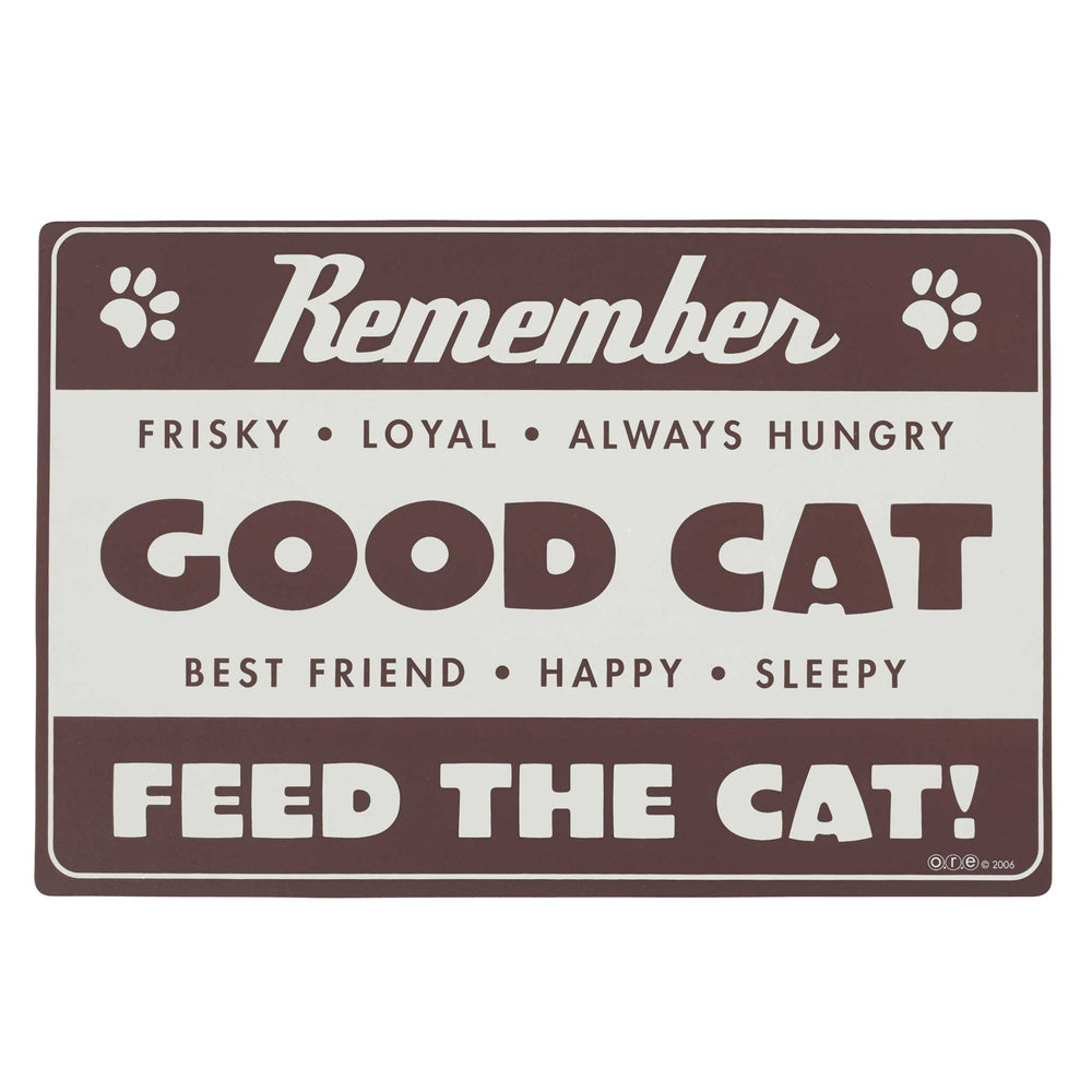 Pet Placemat | Diner Cat Brown