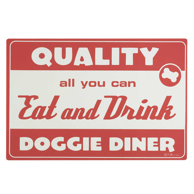 Pet Placemat | Diner Dog Red