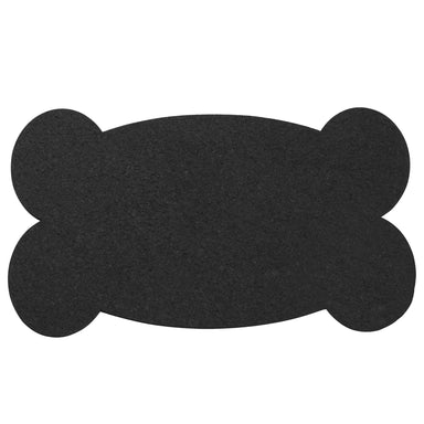 Pet Placemat | Recycled Rubber Big Bone Black