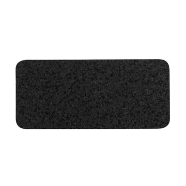 Pet Placemat | Recycled Rubber Skinny Rectangle Black