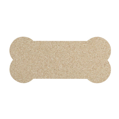 Pet Placemat | Recycled Rubber Skinny Bone Natural