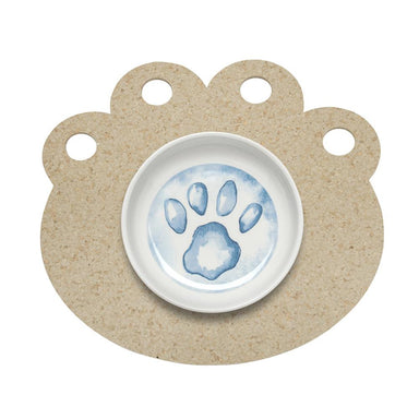 Pet Placemat | Recycled Rubber Paw Natural