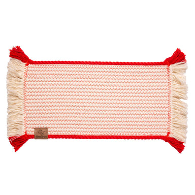 Pet Placemat Cotton Rope | Red Trim