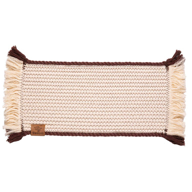 Pet Placemat Cotton Rope | Brown Trim