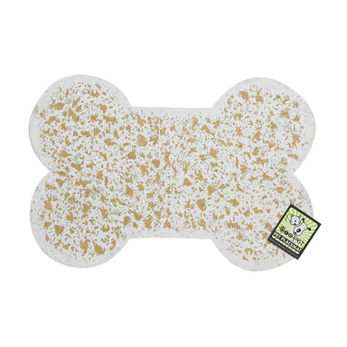Pet Placemat | Recycled Rubber Mini Bone Natural