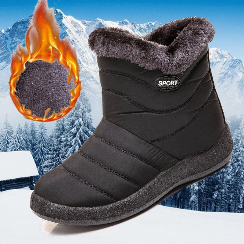 Women Winter Waterproof Daily Side Zipper Ankle Snow Boots