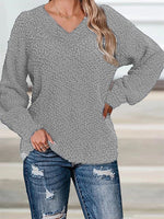 Cashmere Casual Long Sleeve Sweater