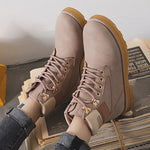 Women Stylish Leather Daily Lace Up Martin Boots