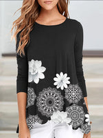 Floral Print Long Sleeve Top