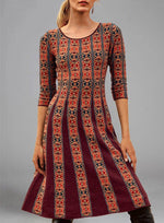 Women Casual Printed A-Line Dresses