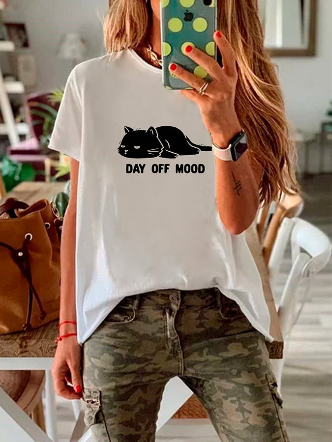 Animal Printed Short Sleeve Casual Crew Neck T-Shirts