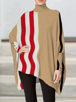 Turtleneck Asymmetrical Batwing Shirts & Tops