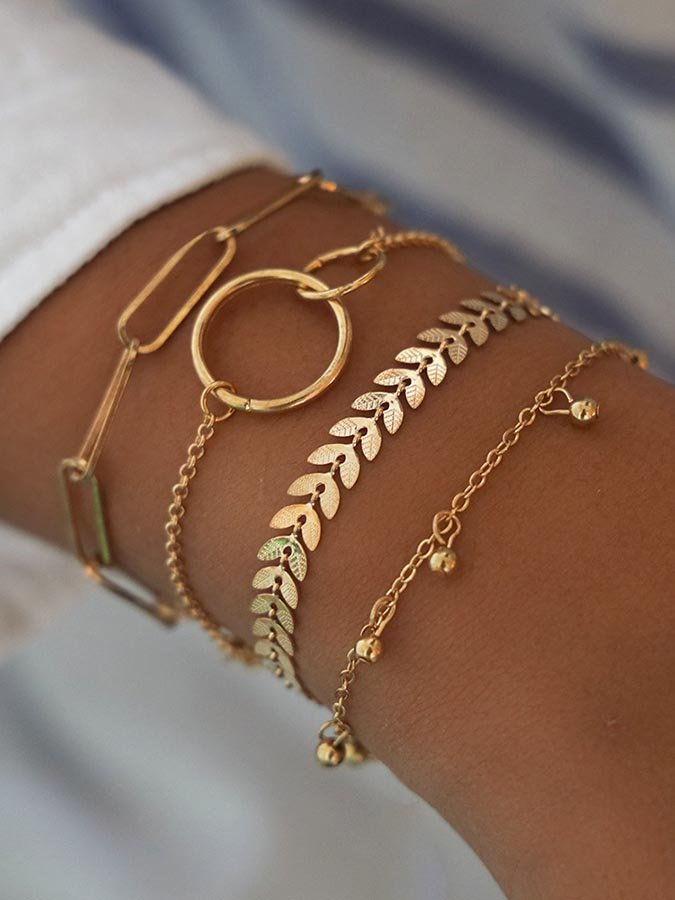 Alloy Plain Bracelets