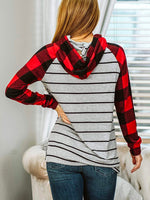 Stripe Stripes Long Sleeve Floral-Print Cashmere Sweatshirt