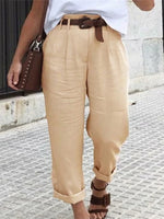 Solid Color Casual Pocket  Soft Pant
