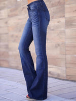 Blue Washed Solid Pants