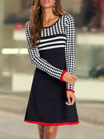 Casual Knee-length Long Sleeve Dress