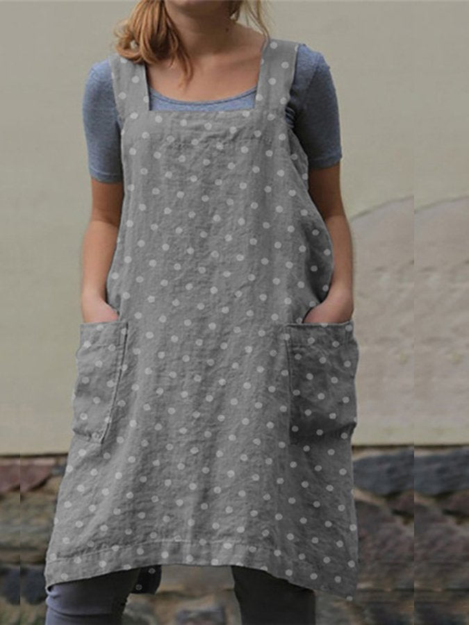 Polka Dots Shift Casual Dress