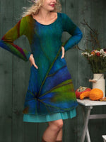 Multicolor Cotton Printed Casual Dresses