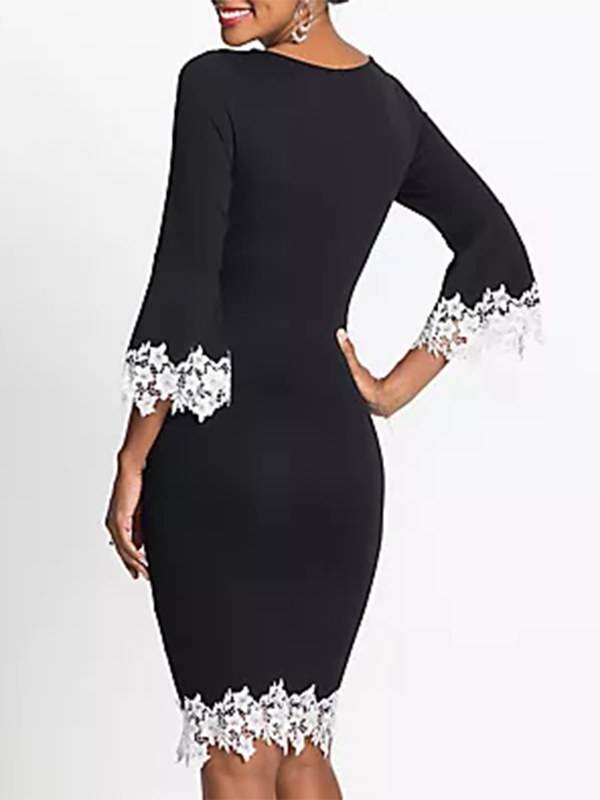 Appliqued Work Elegant Dress