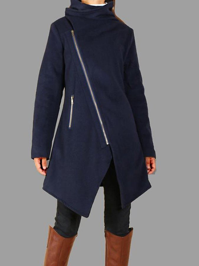 Women Casual Long Sleeve Cowl Neck Coat
