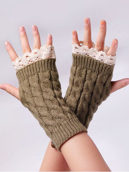 Casual Solid Paneled Gloves & Mittens