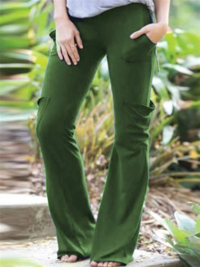 Solid Color Pocket Slacks