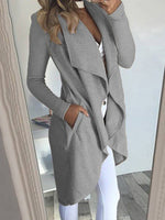 Sheath Casual Long Sleeve Outerwear