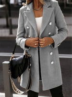 Long Sleeve Casual Plain Outerwear