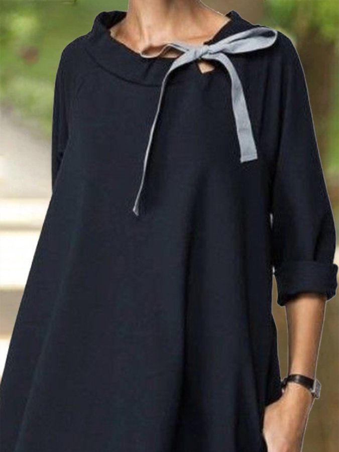 Paneled Cocoon Casual Dress