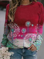 Floral Printed Long Sleeve Shirts & Tops