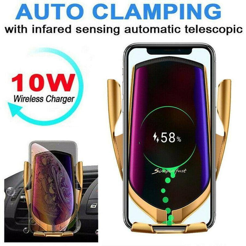 2-IN-1 CAR WIRELESS CHARGER - PHONE HOLDER