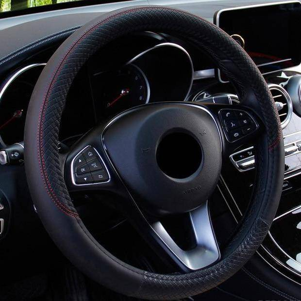 Breathable Leather Car Steering Wheel Cover