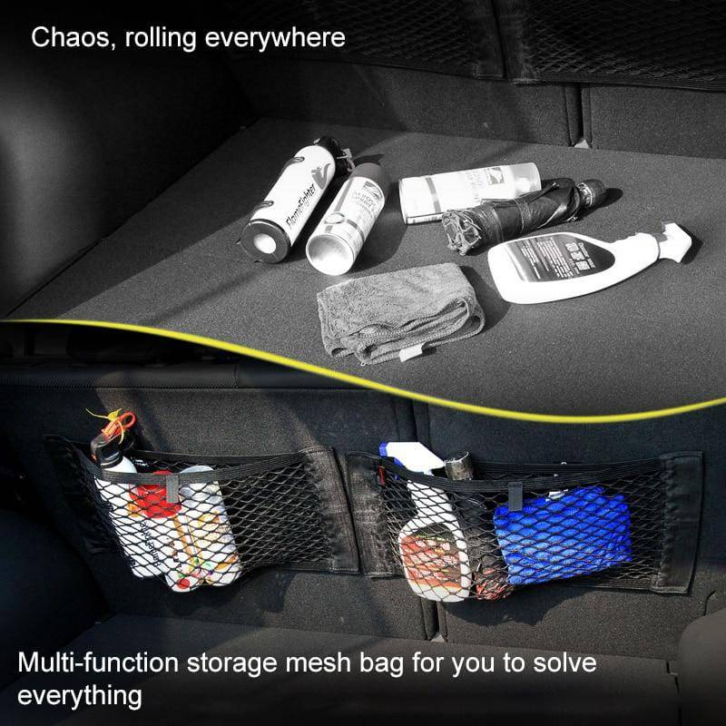 Universal Elastic Mesh - Car Trunk Storage Bag - Gadgets Essential