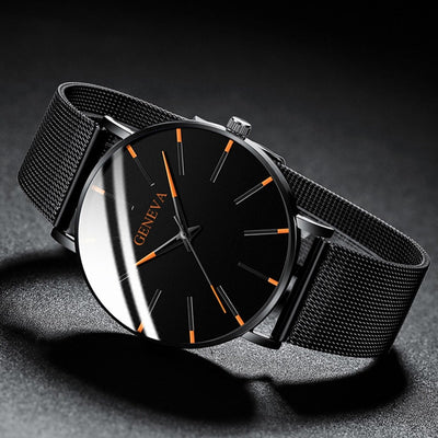 Ultra Thin Business Stainless Steel Watch