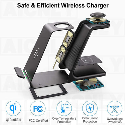 Trending 3 In 1 Wireless 0W Fast Charger
