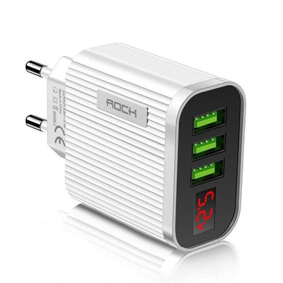 Digital Display 3A 3 Port Charger