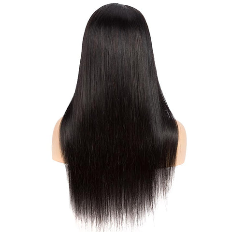"Image of 4x4 Lace Closure Wig 10""-30"" 150% Density Natural Black Straight Wigs"