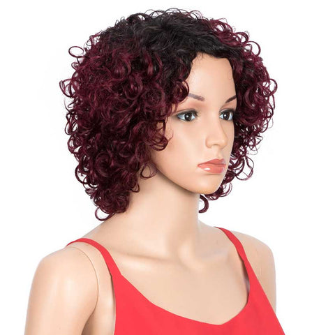 Short Wavy Bob Wigs Human Hair for Women Cute Human Hair Bob Wigs