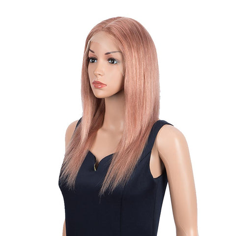 Image of Rebecca Fashion Highlight Pink 4x4 Lace Closure Wigs 100% Straight Human Hair Wigs 150% Density