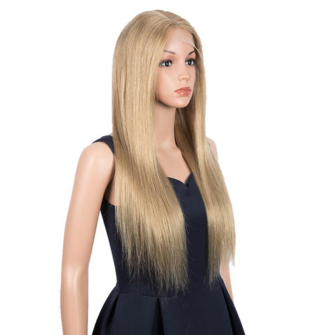 Image of Light Brown Straight Hair 4x4 Lace Wig 150% Density Human Hair Wigs