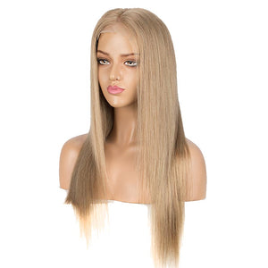 G Blond Straight 4x4 Lace Closure Wigs 150% Density Human Hair Wig